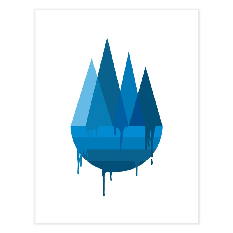 Dying Earth - The last drop - blue variant Home Fine Art Print by ARTinfusion - Get your's now!