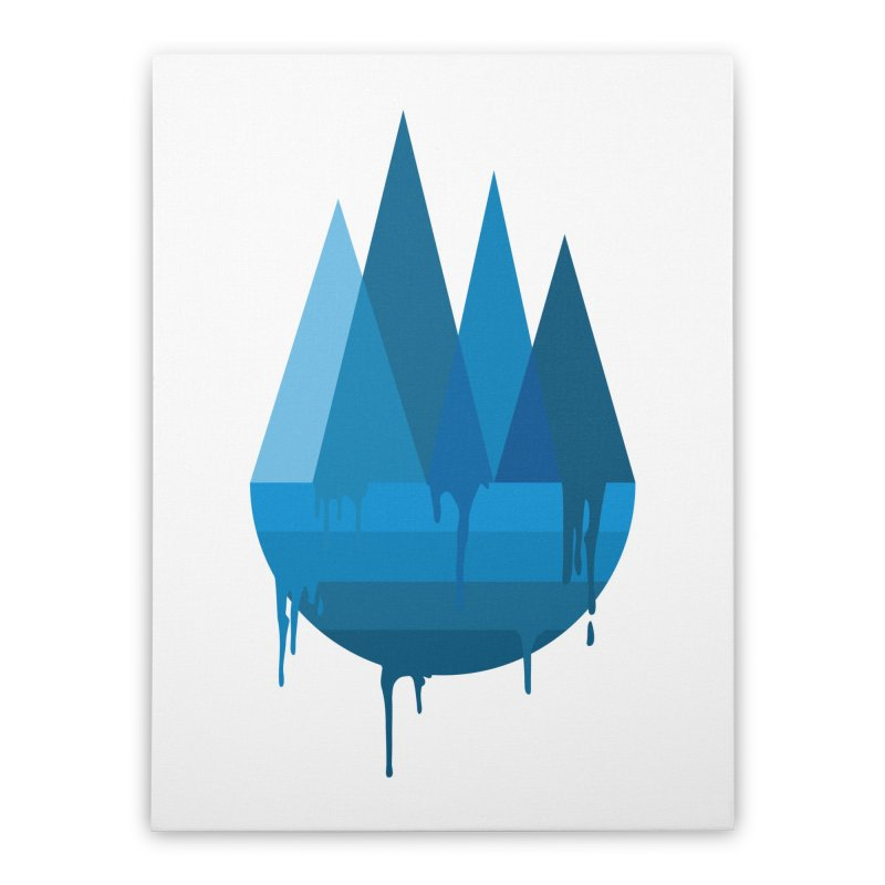 Dying Earth - The last drop - blue variant Home Stretched Canvas by ARTinfusion - Get your's now!