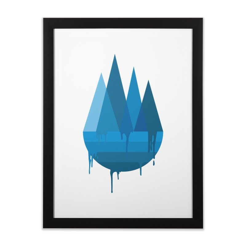 Dying Earth - The last drop - blue variant Home Framed Fine Art Print by ARTinfusion - Get your's now!