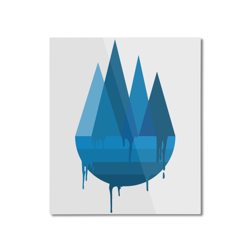 Dying Earth - The last drop - blue variant Home Mounted Aluminum Print by ARTinfusion - Get your's now!