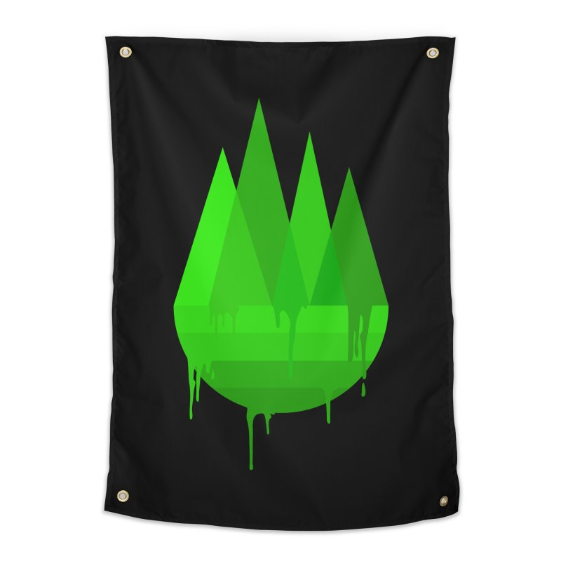 Dying Earth - The last drop - green variant Home Tapestry by ARTinfusion - Get your's now!