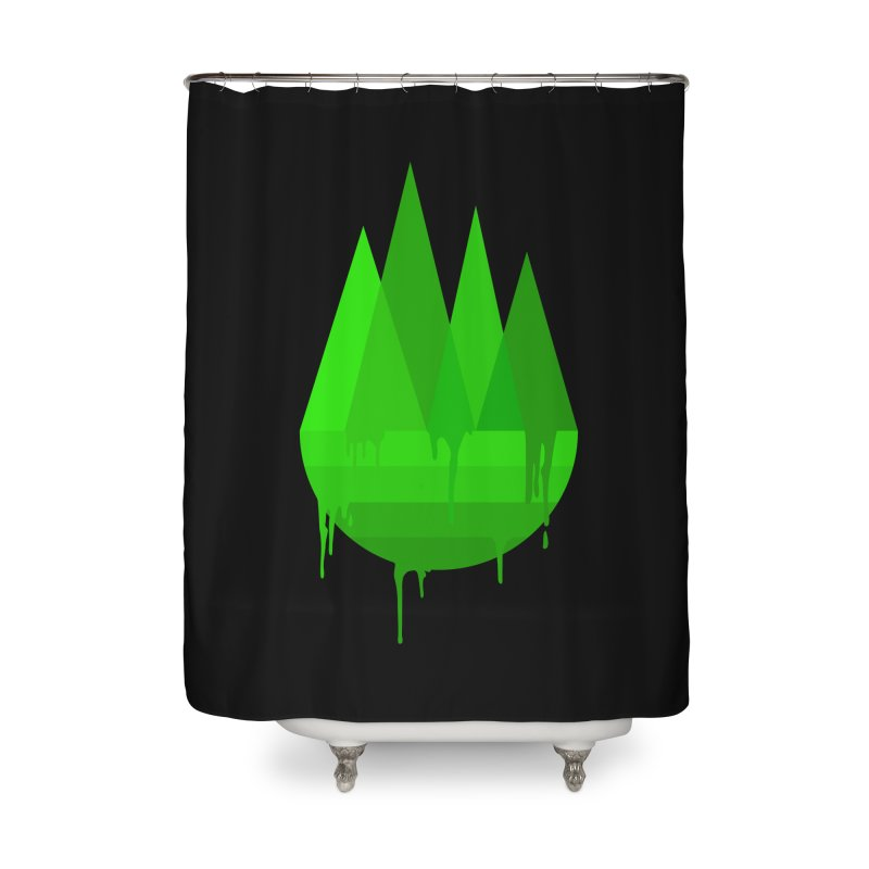 Dying Earth - The last drop - green variant Home Shower Curtain by ARTinfusion - Get your's now!