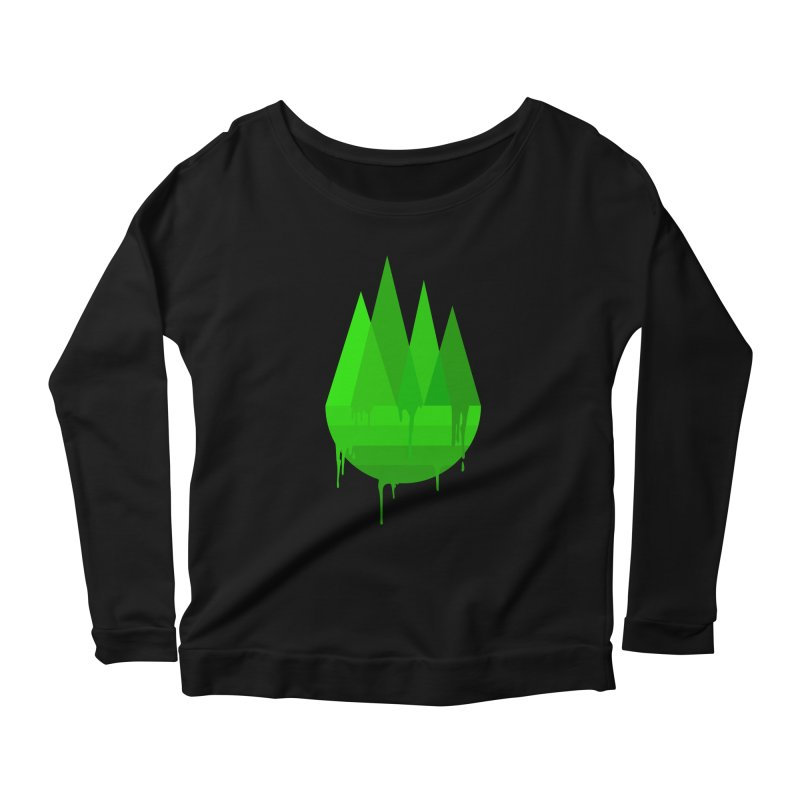 Dying Earth - The last drop - green variant Women's Longsleeve T-Shirt by ARTinfusion - Get your's now!