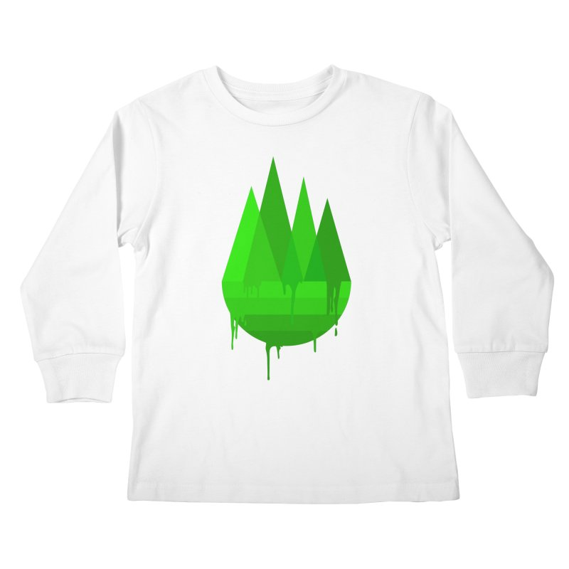 Dying Earth - The last drop - green variant Kids Longsleeve T-Shirt by ARTinfusion - Get your's now!
