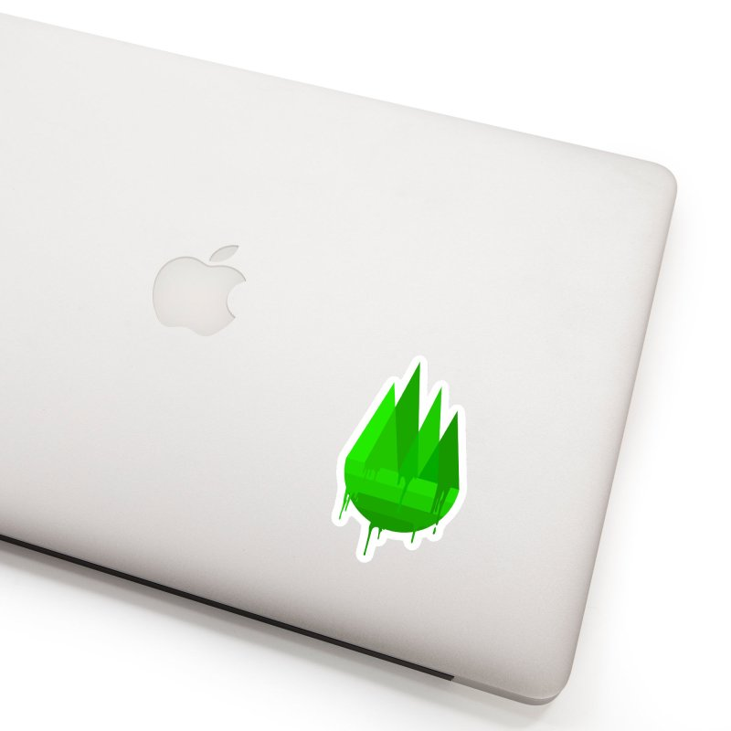 Dying Earth - The last drop - green variant Accessories Sticker by ARTinfusion - Get your's now!