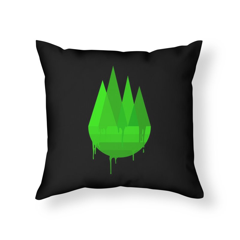 Dying Earth - The last drop - green variant Home Throw Pillow by ARTinfusion - Get your's now!