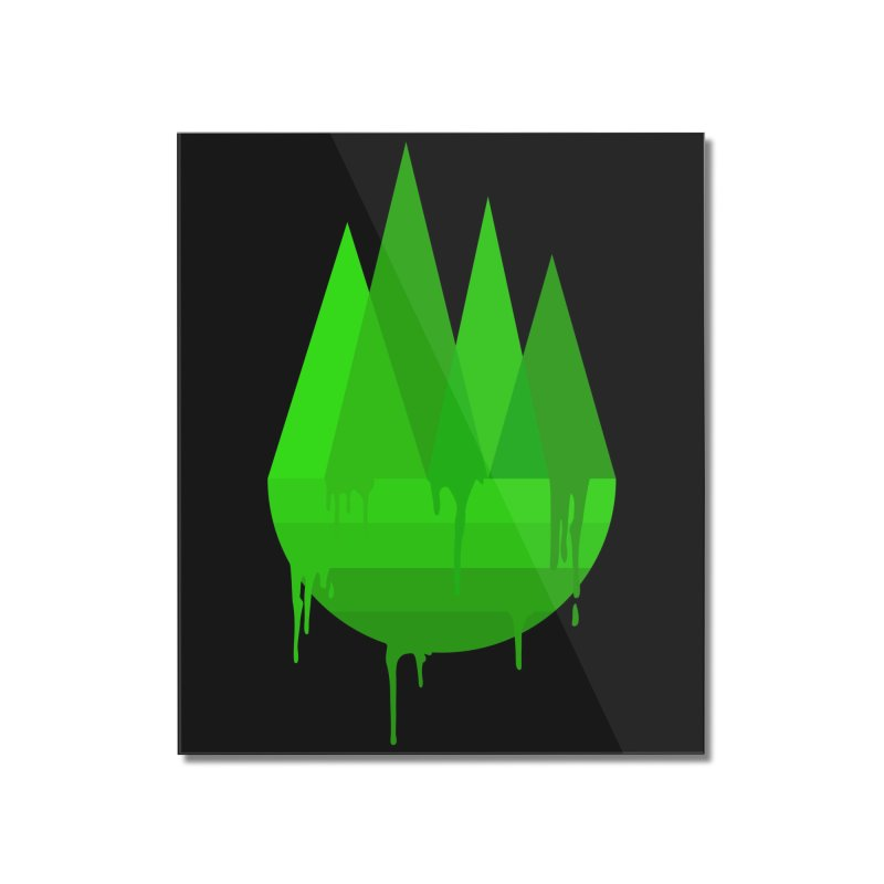 Dying Earth - The last drop - green variant Home Mounted Acrylic Print by ARTinfusion - Get your's now!