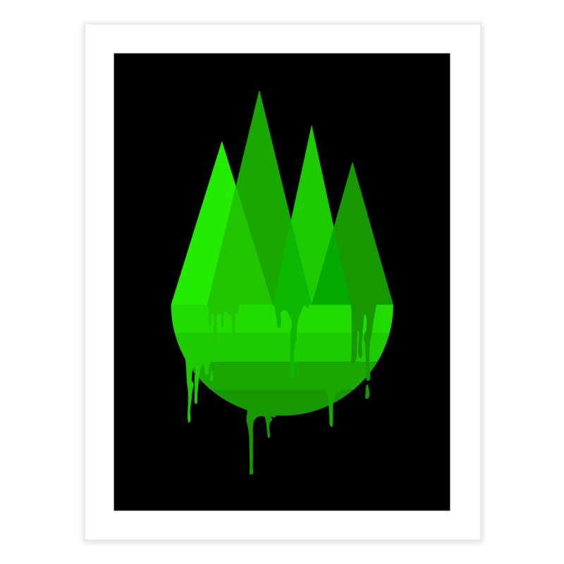 Dying Earth - The last drop - green variant Home Fine Art Print by ARTinfusion - Get your's now!