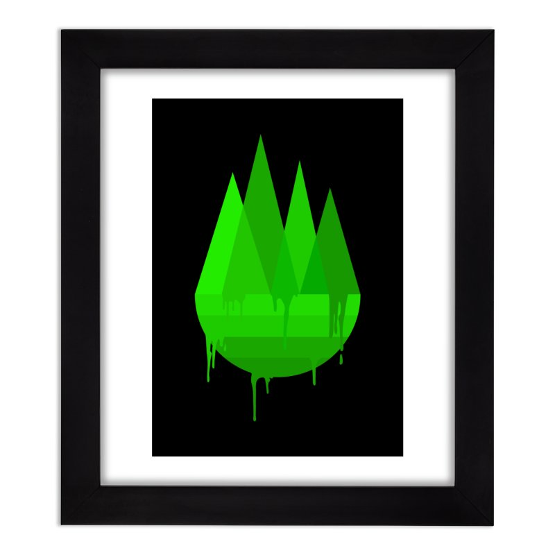 Dying Earth - The last drop - green variant Home Framed Fine Art Print by ARTinfusion - Get your's now!