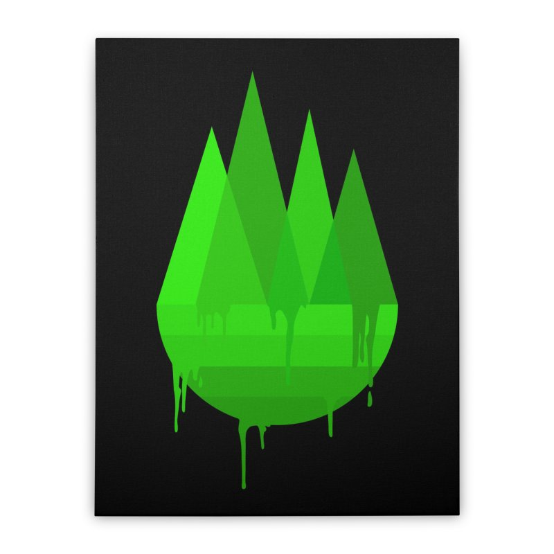 Dying Earth - The last drop - green variant Home Stretched Canvas by ARTinfusion - Get your's now!