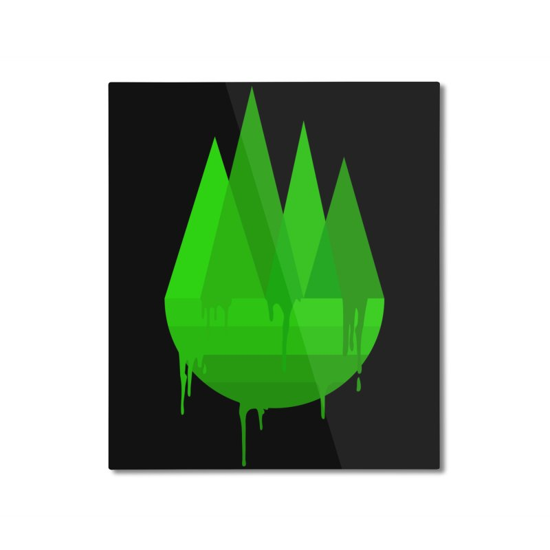 Dying Earth - The last drop - green variant Home Mounted Aluminum Print by ARTinfusion - Get your's now!