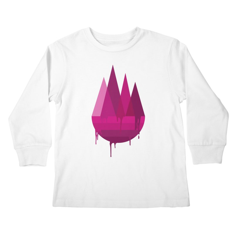 Dying Earth - The last drop - purple variant Kids Longsleeve T-Shirt by ARTinfusion - Get your's now!