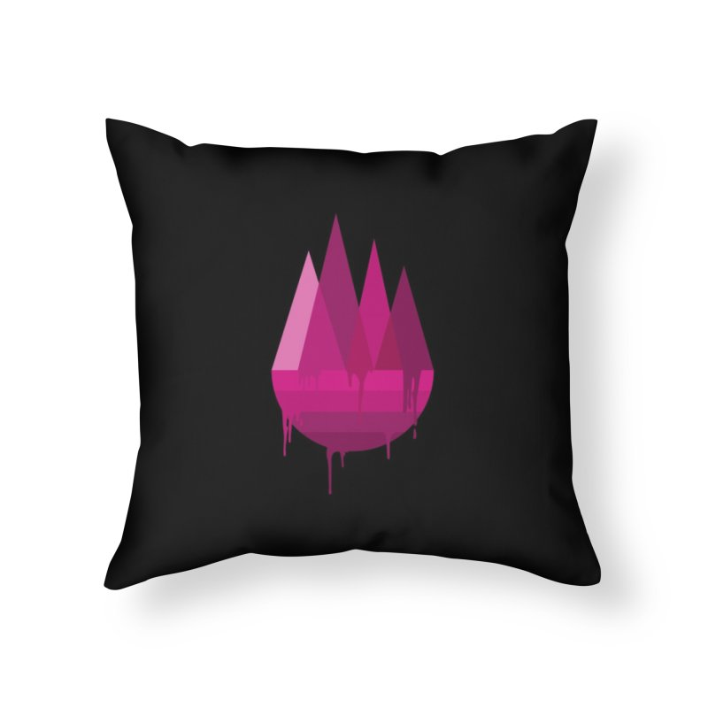 Dying Earth - The last drop - purple variant Home Throw Pillow by ARTinfusion - Get your's now!