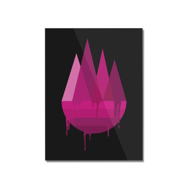 Dying Earth - The last drop - purple variant Home Mounted Acrylic Print by ARTinfusion - Get your's now!