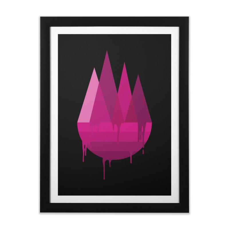 Dying Earth - The last drop - purple variant Home Framed Fine Art Print by ARTinfusion - Get your's now!