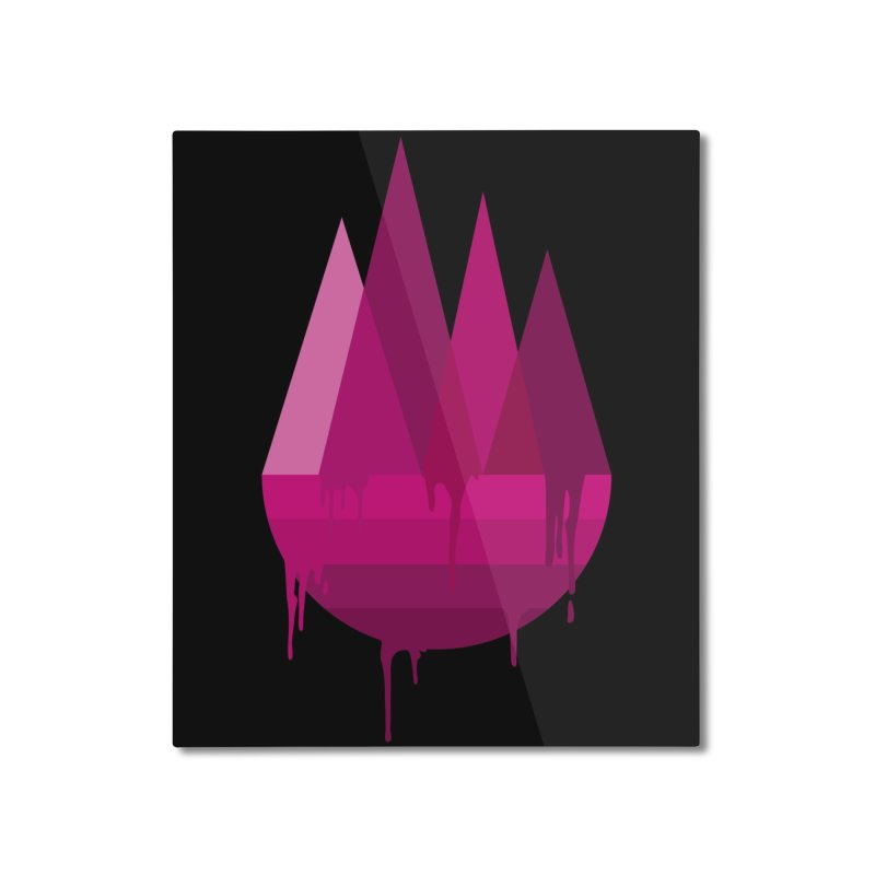 Dying Earth - The last drop - purple variant Home Mounted Aluminum Print by ARTinfusion - Get your's now!
