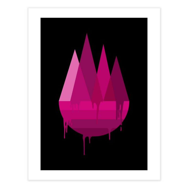 Dying Earth - The last drop - purple variant Home Fine Art Print by ARTinfusion - Get your's now!