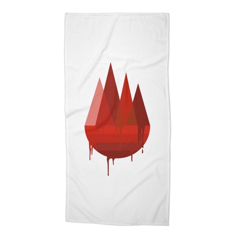 Dying Earth - The last drop - red variant Accessories Beach Towel by ARTinfusion - Get your's now!
