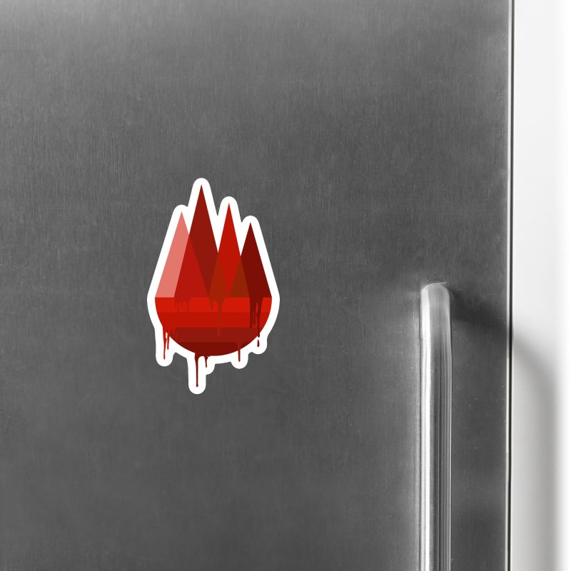 Dying Earth - The last drop - red variant Accessories Magnet by ARTinfusion - Get your's now!