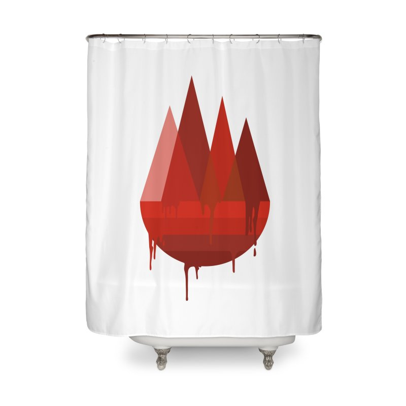 Dying Earth - The last drop - red variant Home Shower Curtain by ARTinfusion - Get your's now!