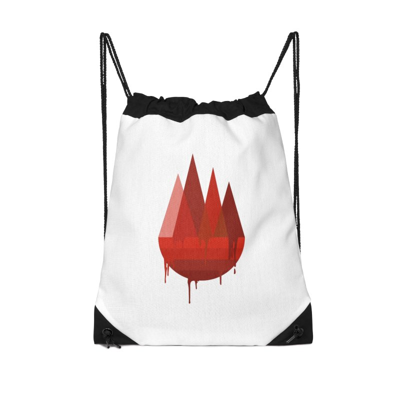 Dying Earth - The last drop - red variant Accessories Bag by ARTinfusion - Get your's now!