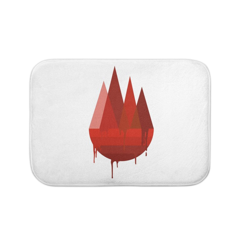Dying Earth - The last drop - red variant Home Bath Mat by ARTinfusion - Get your's now!