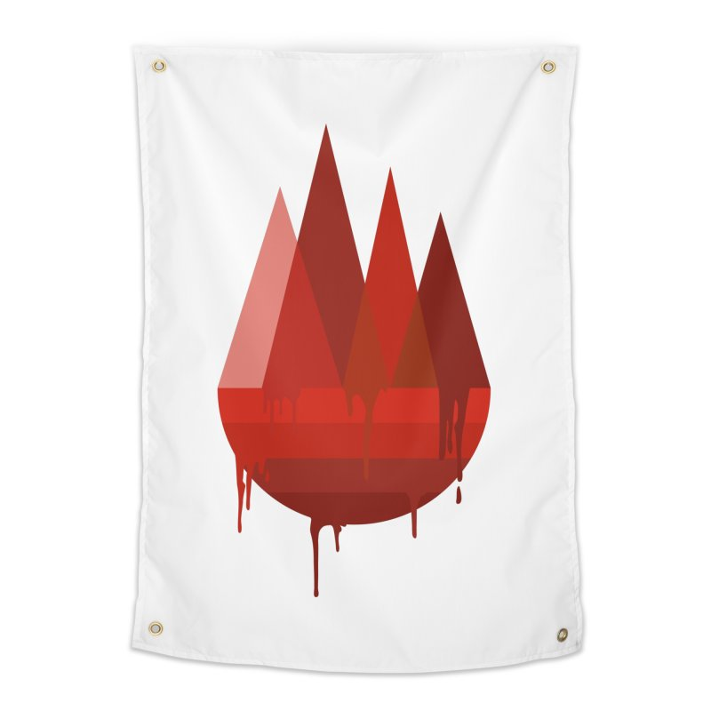 Dying Earth - The last drop - red variant Home Tapestry by ARTinfusion - Get your's now!