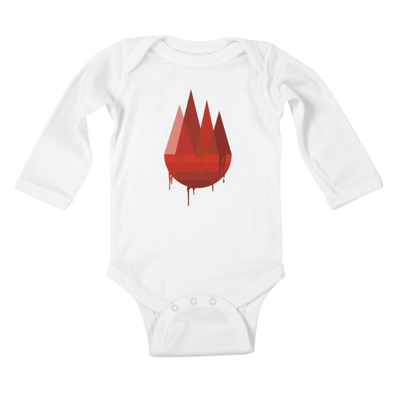 Dying Earth - The last drop - red variant Kids Baby Longsleeve Bodysuit by ARTinfusion - Get your's now!