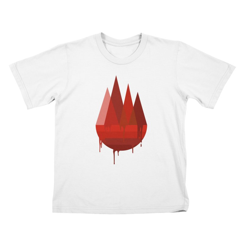 Dying Earth - The last drop - red variant Kids T-Shirt by ARTinfusion - Get your's now!