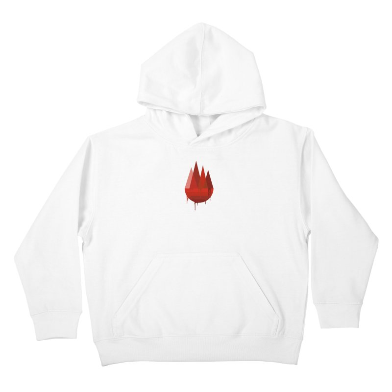 Dying Earth - The last drop - red variant Kids Pullover Hoody by ARTinfusion - Get your's now!