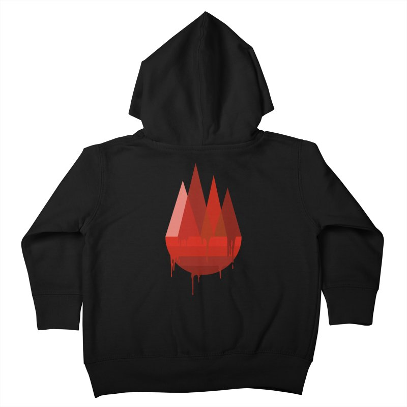 Dying Earth - The last drop - red variant Kids Toddler Zip-Up Hoody by ARTinfusion - Get your's now!