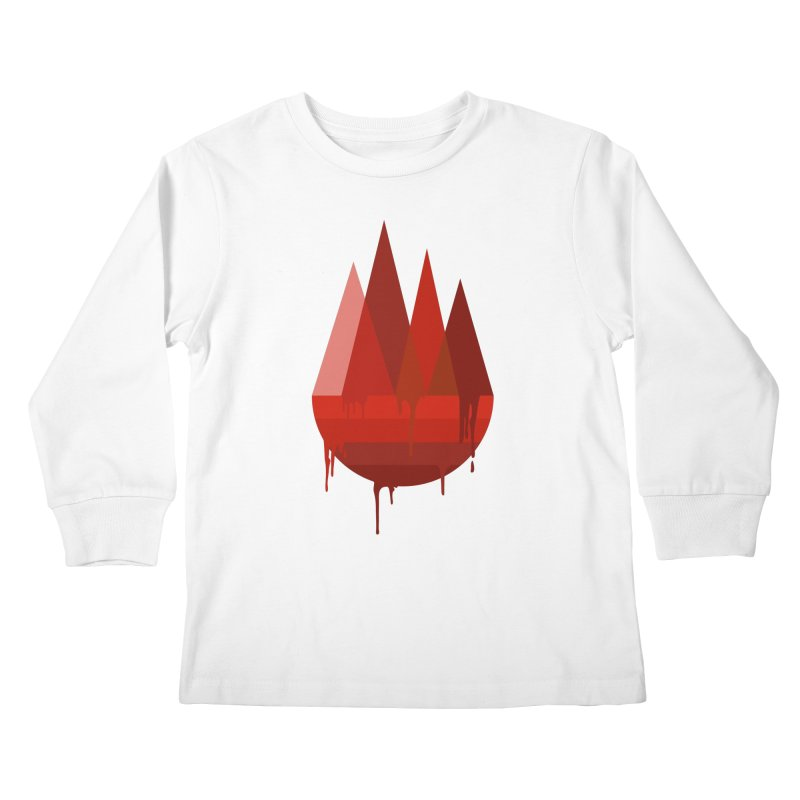 Dying Earth - The last drop - red variant Kids Longsleeve T-Shirt by ARTinfusion - Get your's now!