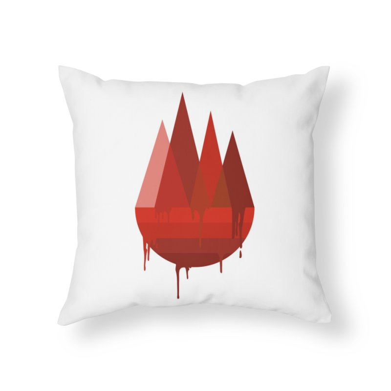 Dying Earth - The last drop - red variant Home Throw Pillow by ARTinfusion - Get your's now!