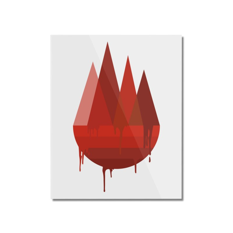 Dying Earth - The last drop - red variant Home Mounted Acrylic Print by ARTinfusion - Get your's now!