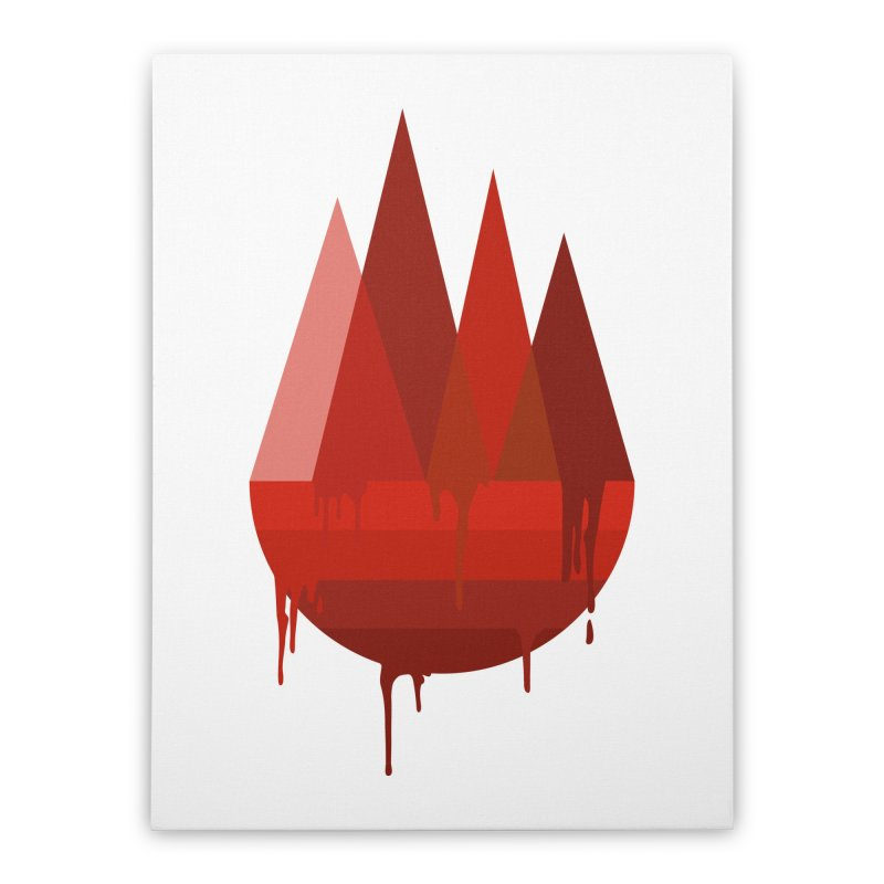 Dying Earth - The last drop - red variant Home Stretched Canvas by ARTinfusion - Get your's now!