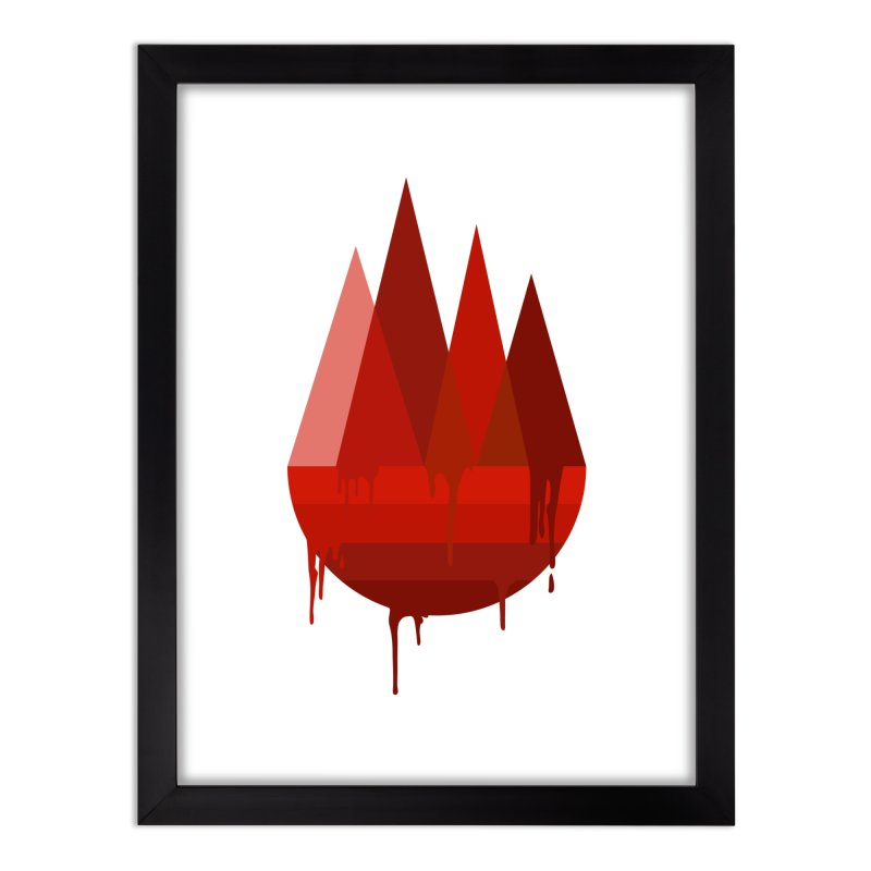 Dying Earth - The last drop - red variant Home Framed Fine Art Print by ARTinfusion - Get your's now!