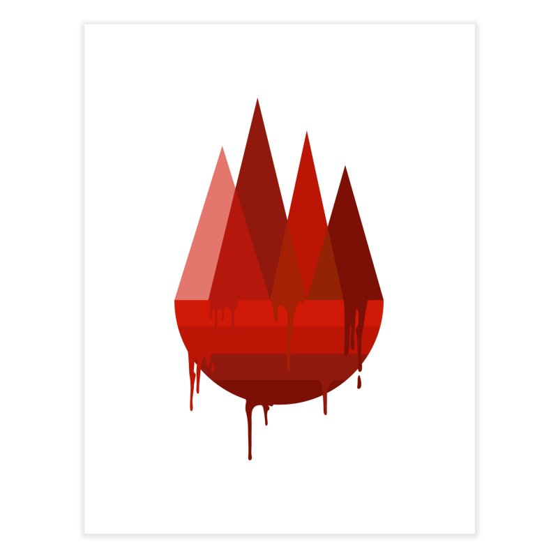 Dying Earth - The last drop - red variant Home Fine Art Print by ARTinfusion - Get your's now!