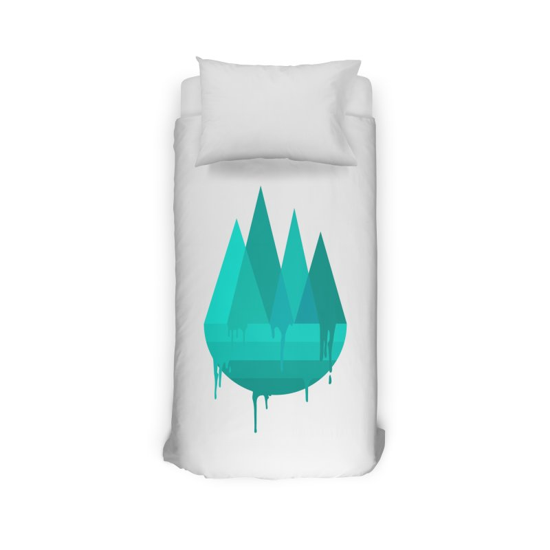 Dying Earth - The last drop - turquoise variant Home Duvet by ARTinfusion - Get your's now!