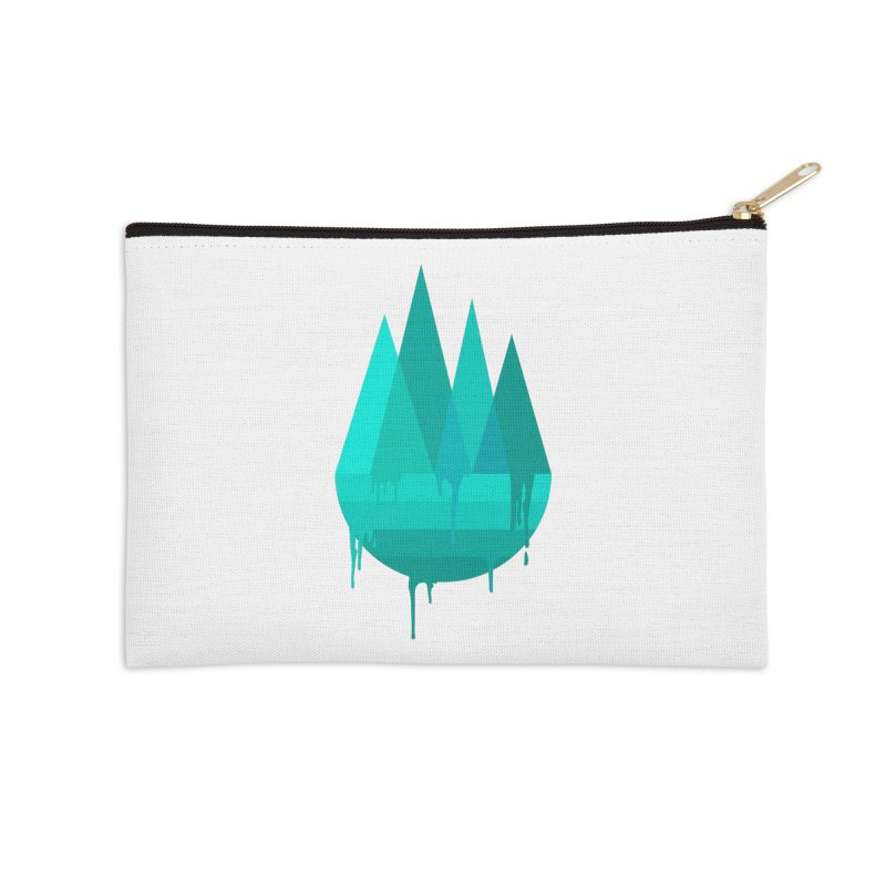 Dying Earth - The last drop - turquoise variant Accessories Zip Pouch by ARTinfusion - Get your's now!