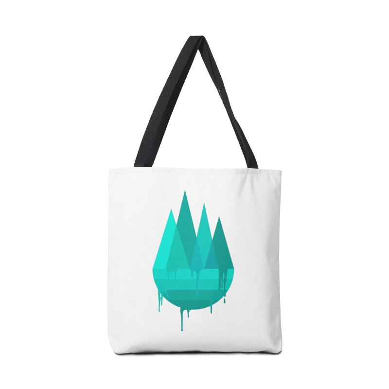 Dying Earth - The last drop - turquoise variant Accessories Bag by ARTinfusion - Get your's now!