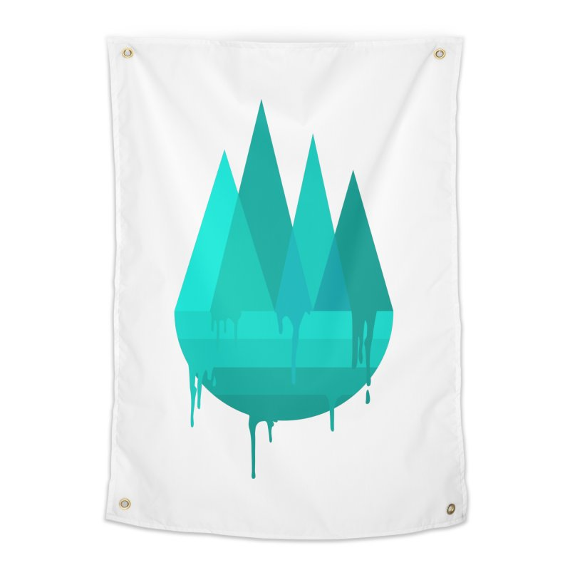 Dying Earth - The last drop - turquoise variant Home Tapestry by ARTinfusion - Get your's now!