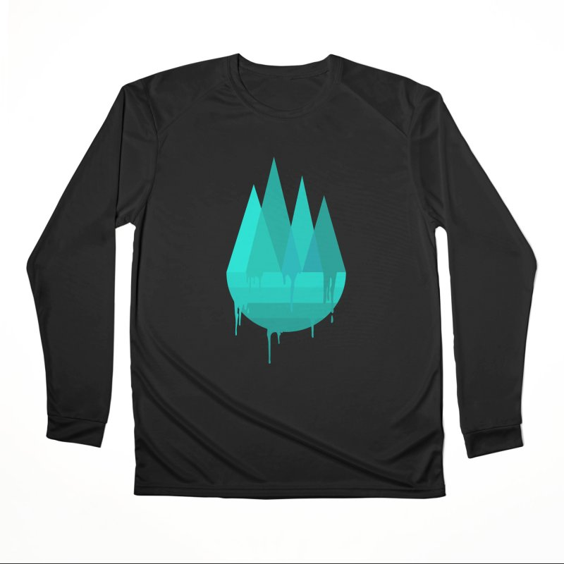 Dying Earth - The last drop - turquoise variant Men's Longsleeve T-Shirt by ARTinfusion - Get your's now!