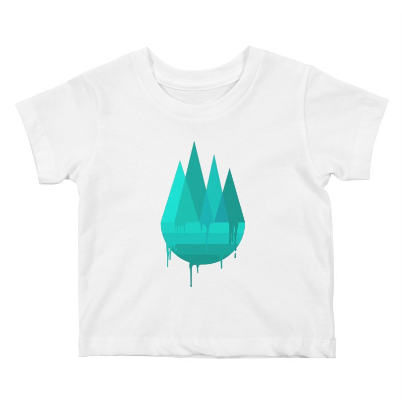 Dying Earth - The last drop - turquoise variant Kids Baby T-Shirt by ARTinfusion - Get your's now!