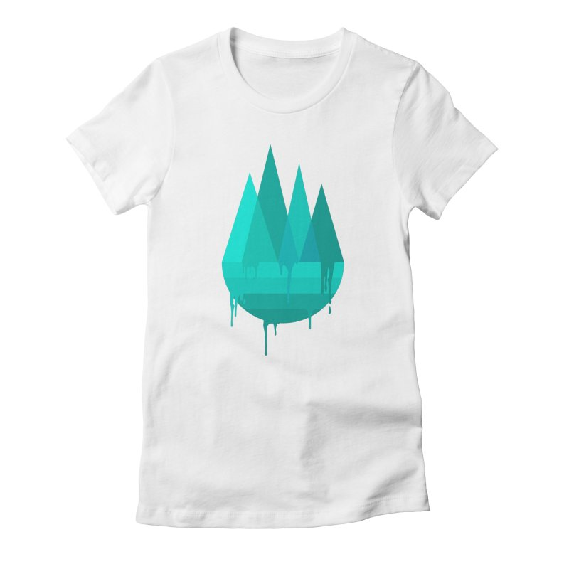 Dying Earth - The last drop - turquoise variant Women's T-Shirt by ARTinfusion - Get your's now!