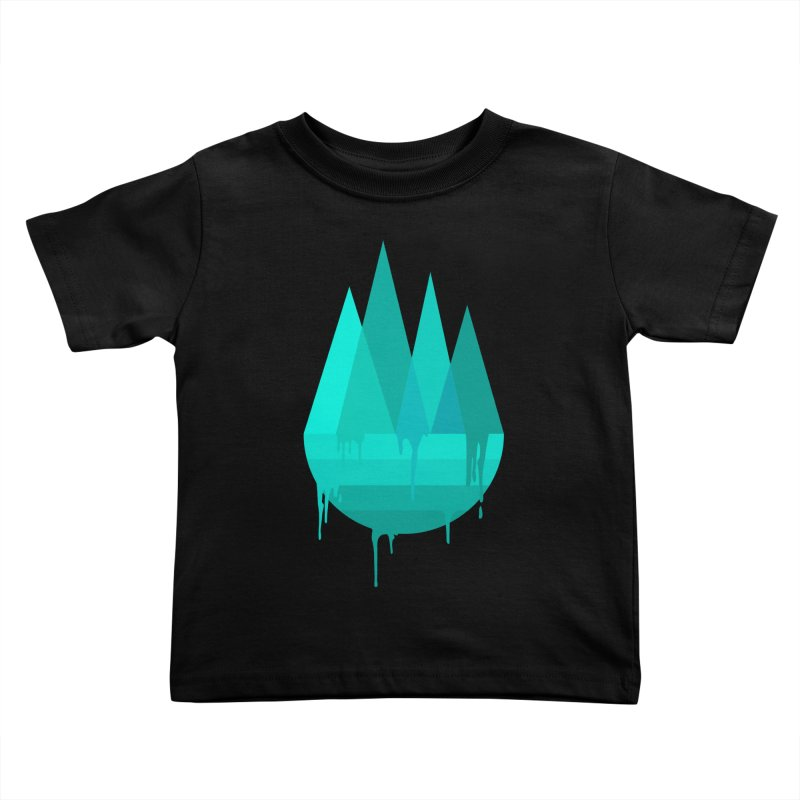 Dying Earth - The last drop - turquoise variant Kids Toddler T-Shirt by ARTinfusion - Get your's now!