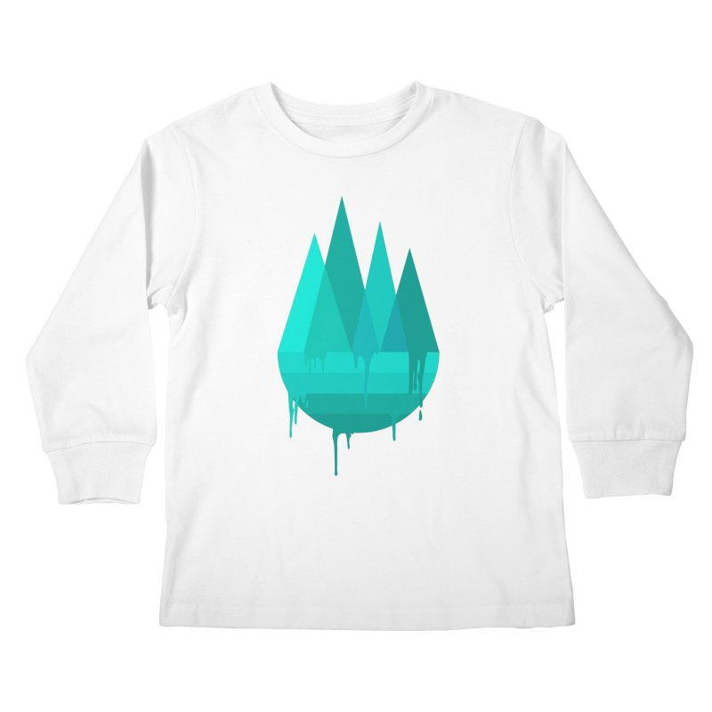 Dying Earth - The last drop - turquoise variant Kids Longsleeve T-Shirt by ARTinfusion - Get your's now!