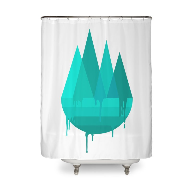Dying Earth - The last drop - turquoise variant Home Shower Curtain by ARTinfusion - Get your's now!