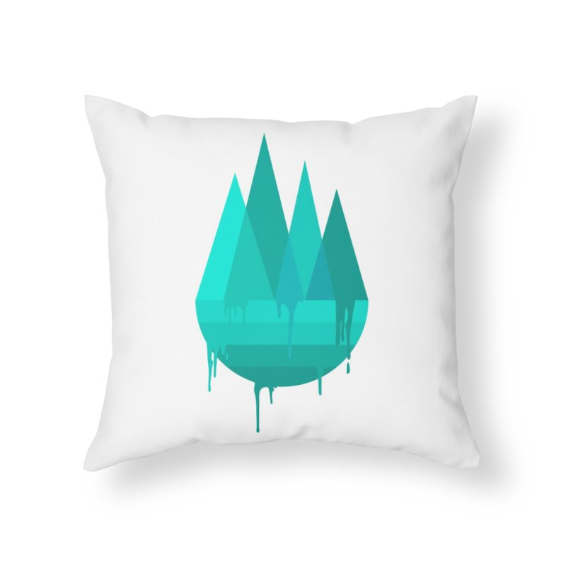 Dying Earth - The last drop - turquoise variant Home Throw Pillow by ARTinfusion - Get your's now!