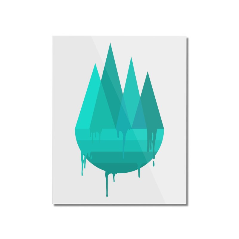 Dying Earth - The last drop - turquoise variant Home Mounted Acrylic Print by ARTinfusion - Get your's now!