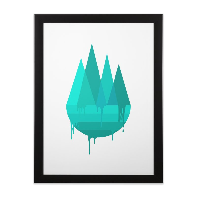 Dying Earth - The last drop - turquoise variant Home Framed Fine Art Print by ARTinfusion - Get your's now!